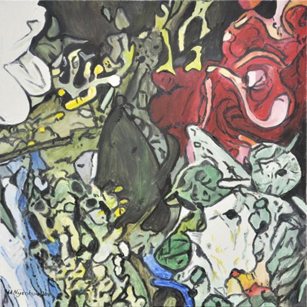 Bunte Blumen 1, Gemälde