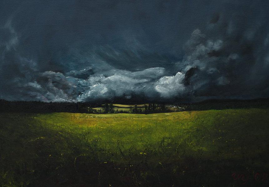 Dunkle Wolken, Gemälde